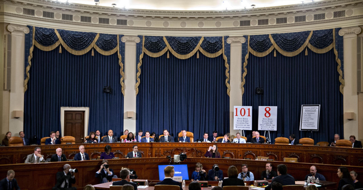Trump impeachment: Ukraine whistleblower sought to explain Schiff committee contact to intel watchdog, according to documents - CBS News