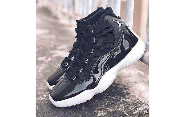 "Latest Release 2020 Air Jordan 11 ""25th Anniversary"" Black Clear CT8012-011"