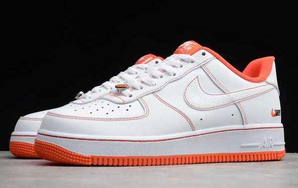 2020 Latest Nike Air Force 1 Low Rucker Park White/Team Orange-Black CT2585-100