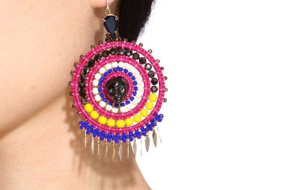 Statement Star Earring with Hoop